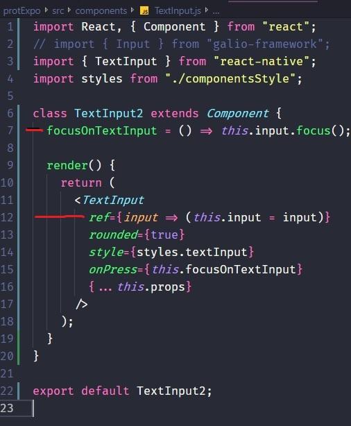 Focus() in Input! · Issue #74 · galio-org/galio · GitHub