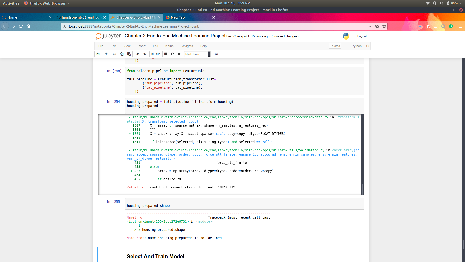 Install sklearn impute | Preprocess input data before making