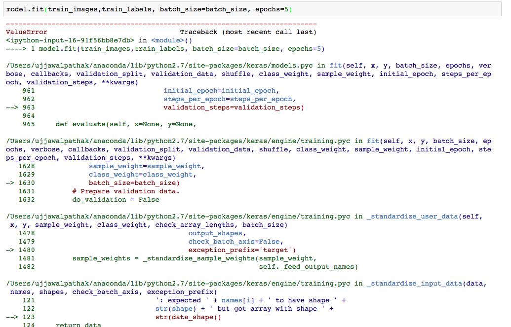model fit() note working · Issue #4041 · keras-team/keras
