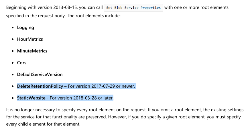 Documented REST API versions don't match REST API versions