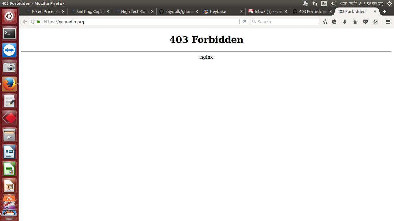 403 Forbidden nginx - https://gnuradio.org/ · Issue #1460 · gnuradio