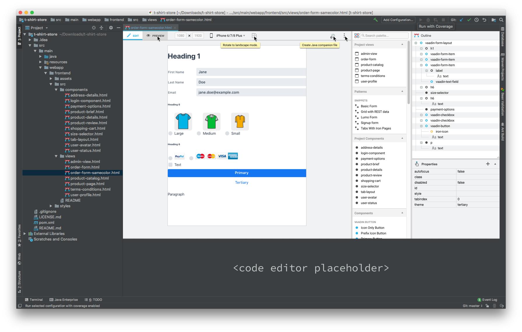 Open Java companion file · Issue #1892 · vaadin/designer · GitHub