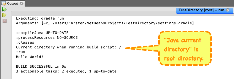Current directory when running Gradle script is not project