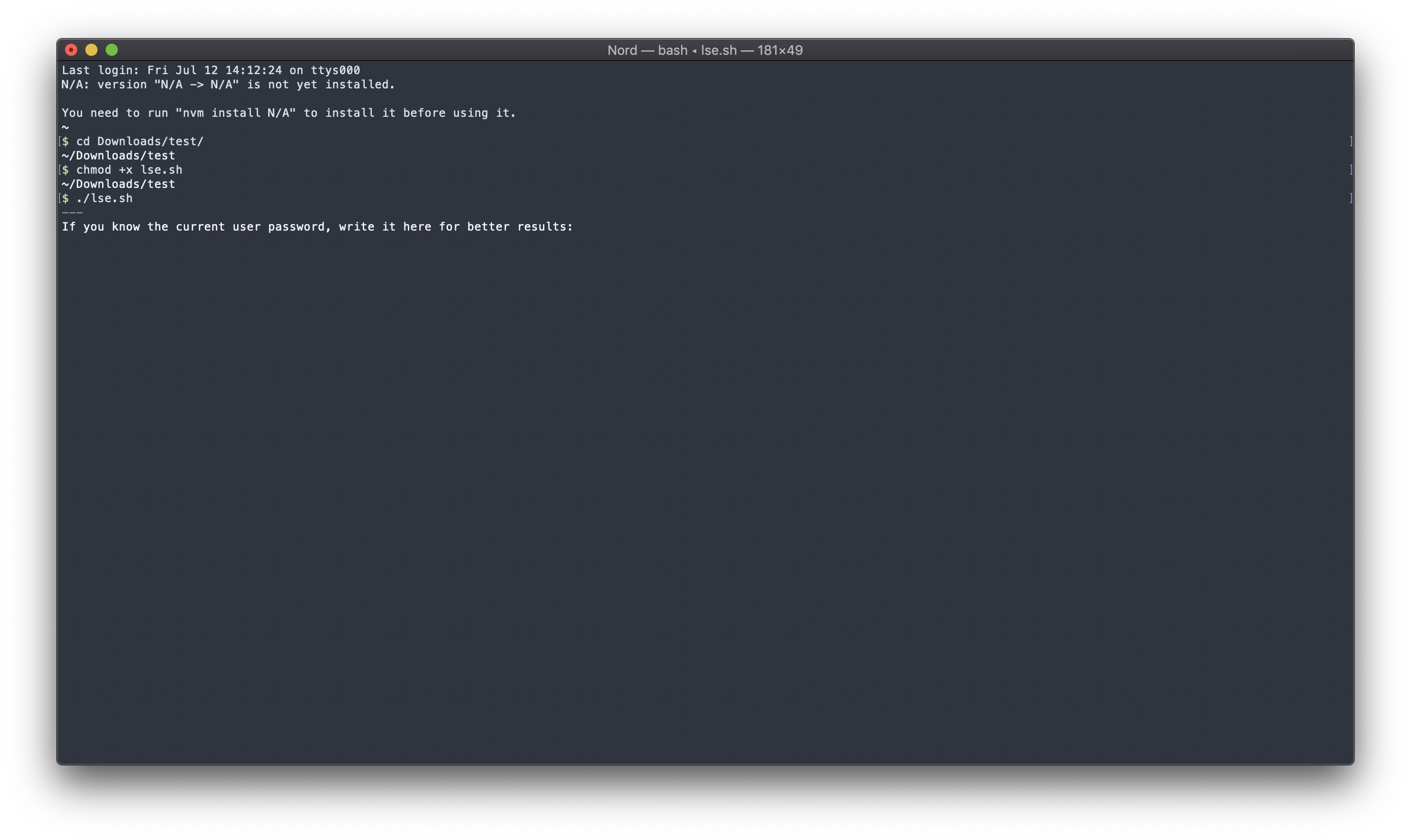 e[ characters not rendering in macOS Terminal app · Issue