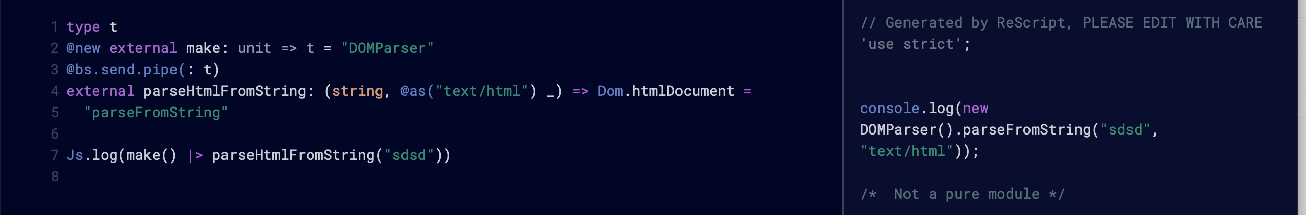 Incorrect js code generated moving from Reason to Rescript · Issue ...