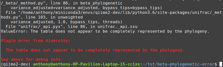 beta_phylogentic error rewriting not working as expected