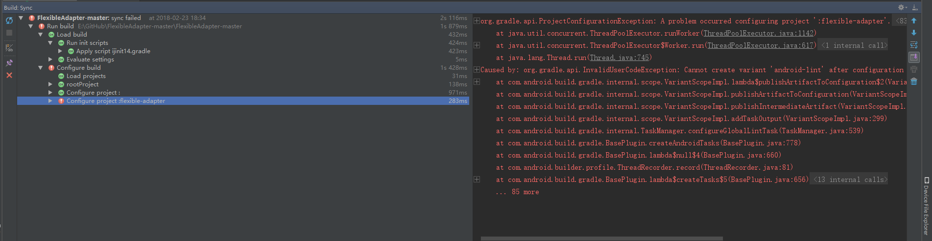 FlexibleAdapter can't import new android studio · Issue #549