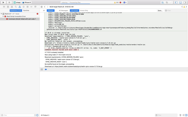 Build Failed on iOS · Issue #1774 · realm/realm-js · GitHub