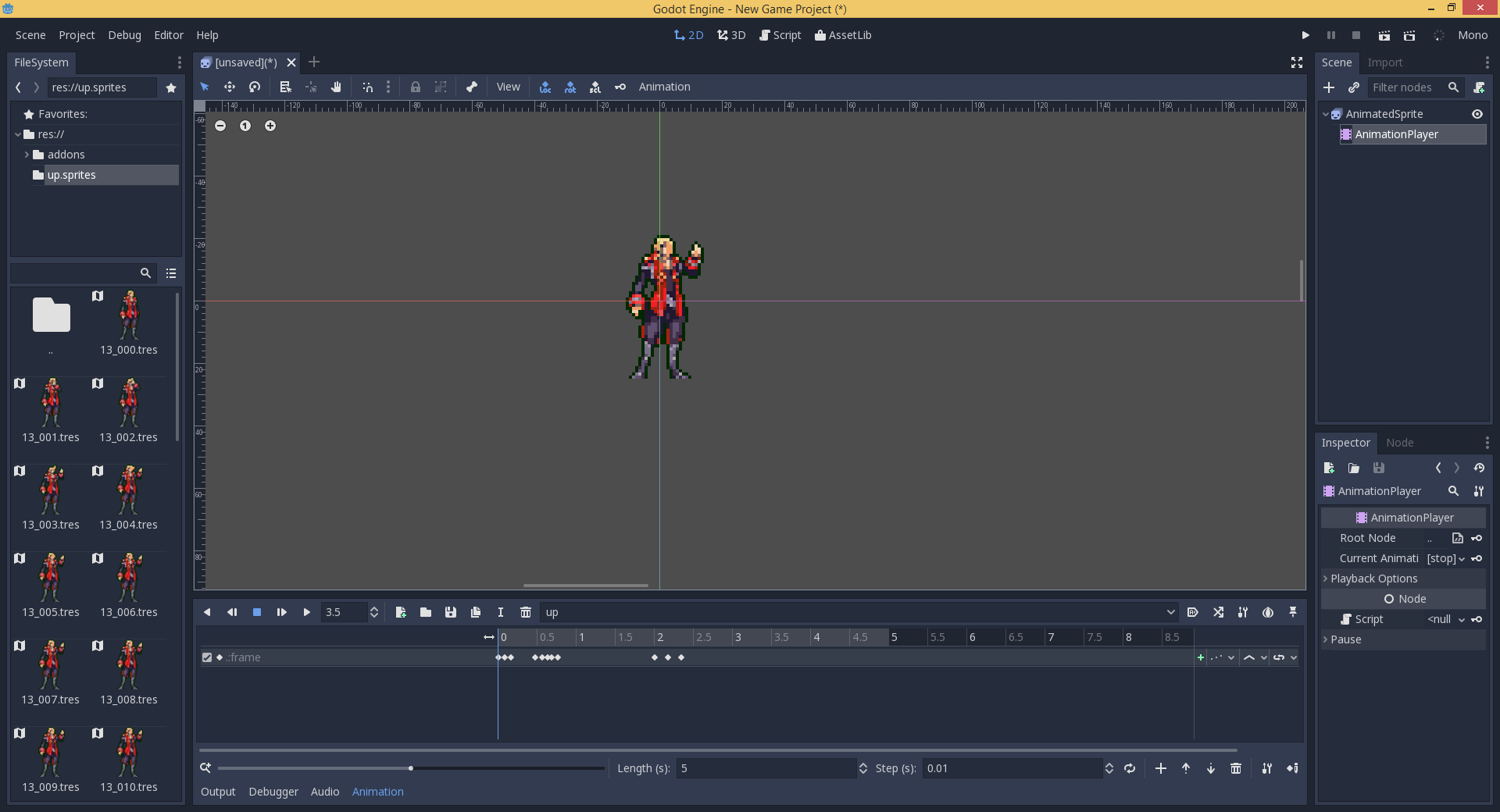 Frame by frame animations on AnimationPlayer are a pain to