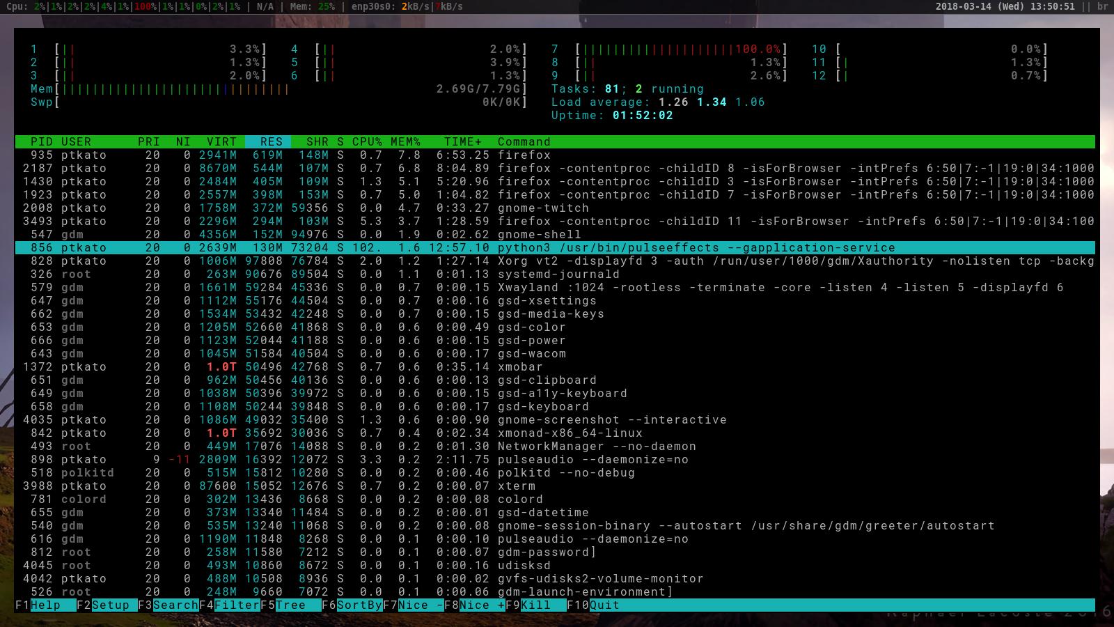 Weird, random, CPU usage · Issue #185 · wwmm/pulseeffects · GitHub