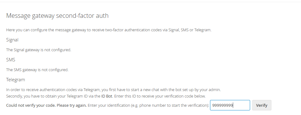 Ask user for user id instead of chat id (aka simpler Telegram setup