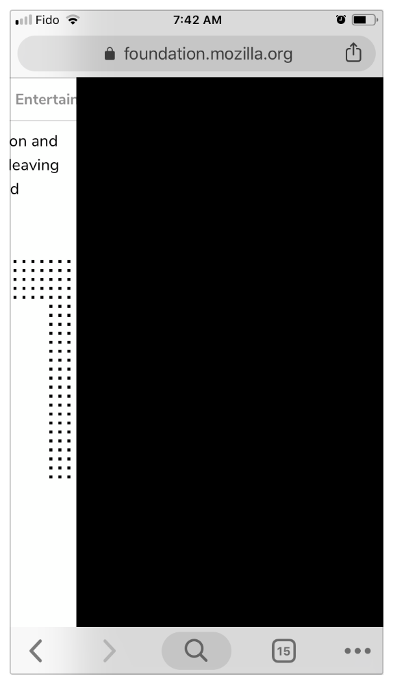 Dot background breaking page on iOS browsers + desktop