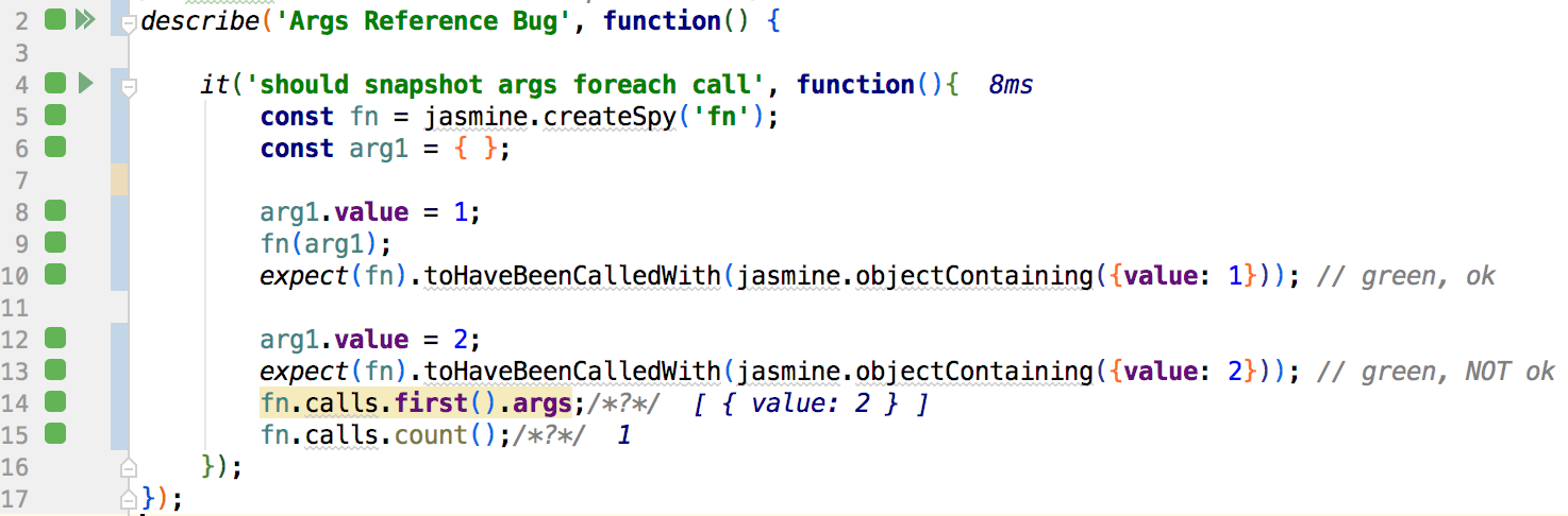 Bug: Call arguments should not match by reference · Issue
