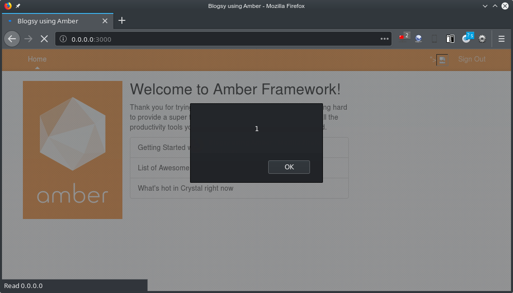 Missing input validation leads to XSS · Issue #697 · amberframework