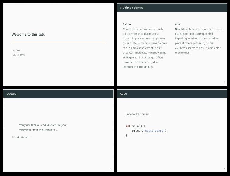 GitHub - nicolov/slides-template: Template for my presentations