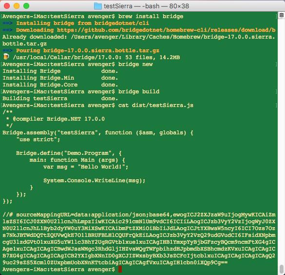 Homebrew installer failing · Issue #14 · bridgedotnet/CLI