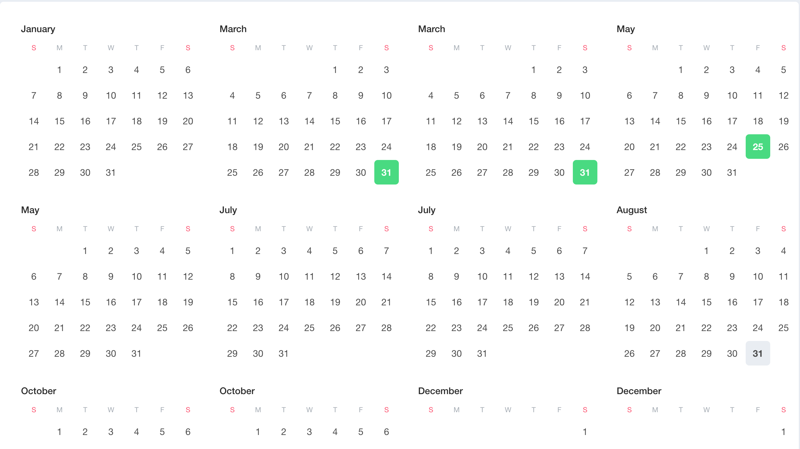 Calendar example: full calendar day select issue · Issue #689