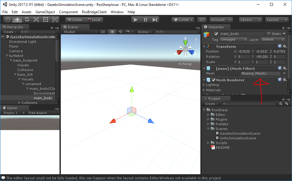 Meshes missing from tutorial turtlebot scene · Issue #49 · siemens