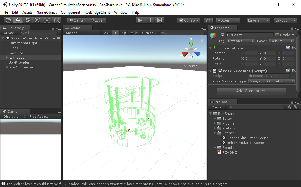 Meshes missing from tutorial turtlebot scene · Issue #49