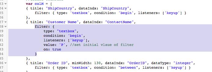 Add Initial filter · Issue #5854 · handsontable/handsontable