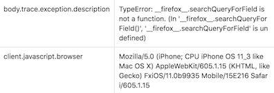 Firefox Searchqueryforfield Is Not A Function Issue 2288