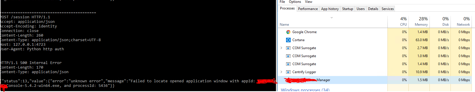 Failed to locate opened application · Issue #283 · microsoft