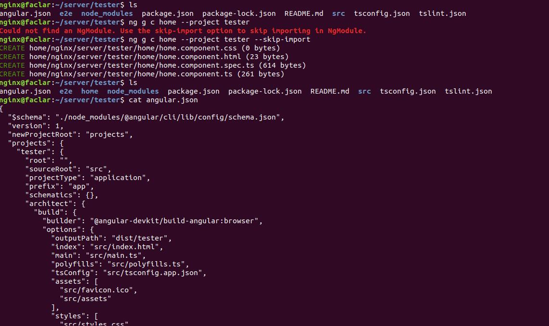 angular cli create module