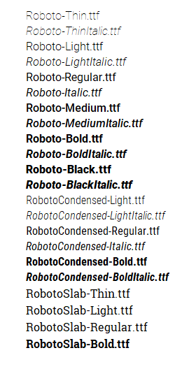 All Roboto variants have functionality issues on Office 2016, except