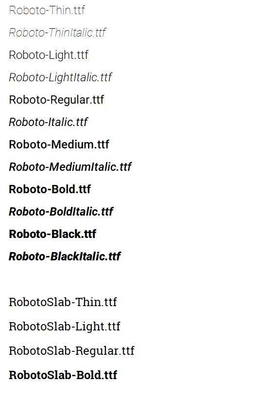 BLACK TÉLÉCHARGER POLICE ROBOTO