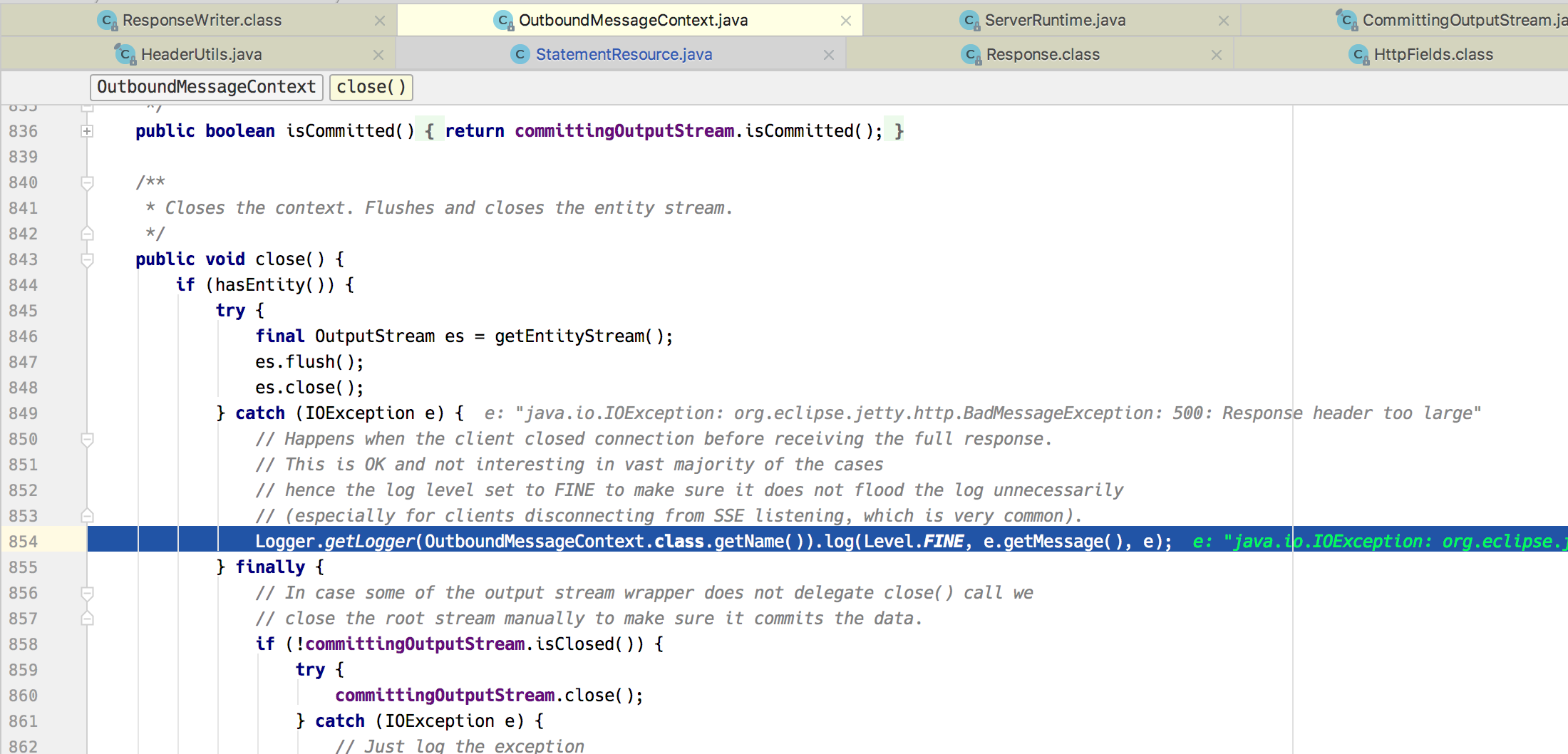java.lang.runtimeexception failed http error code 200