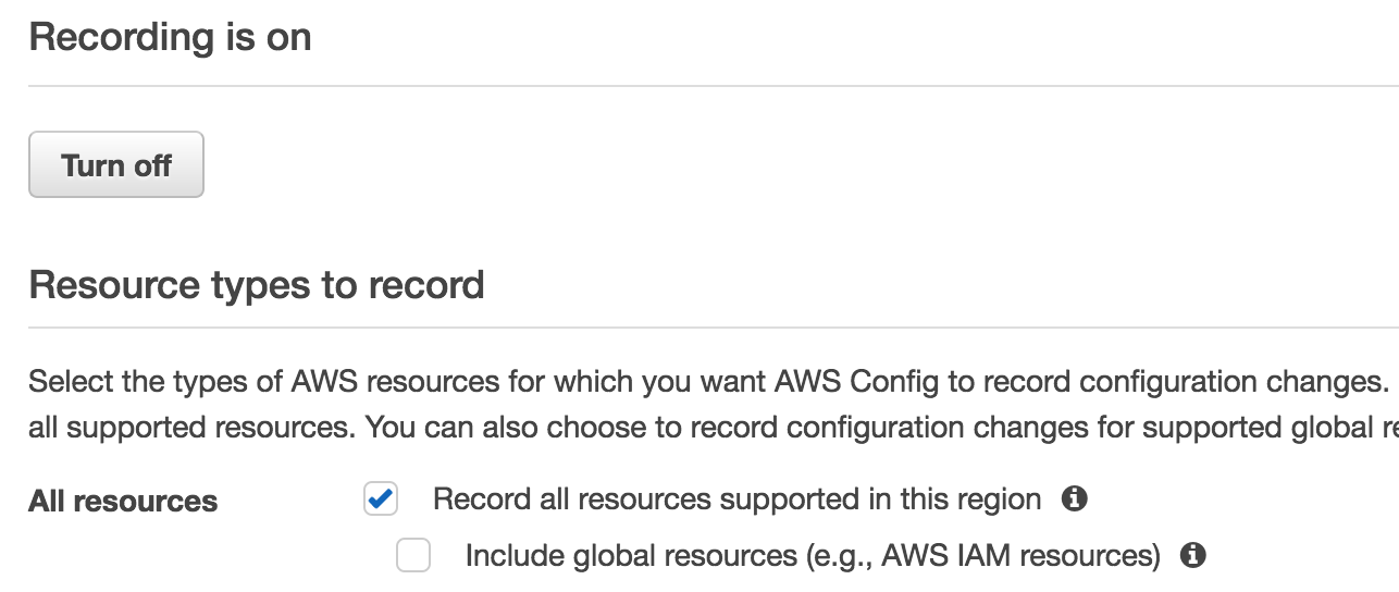AWS Config recorder does not enable global resource · Issue