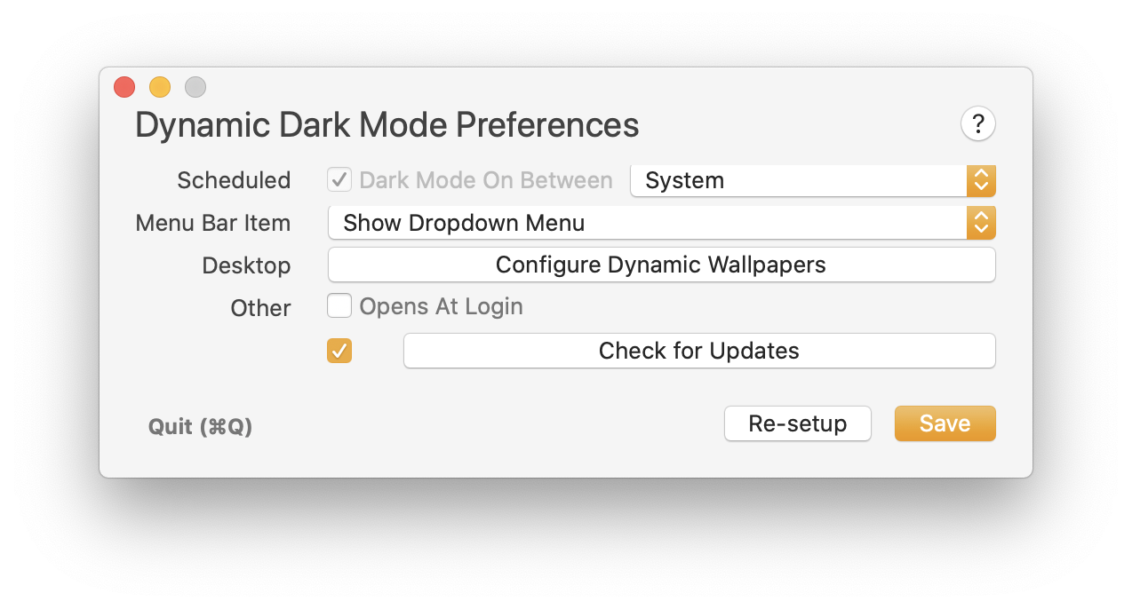 support for macOS Catalina Auto appearance
