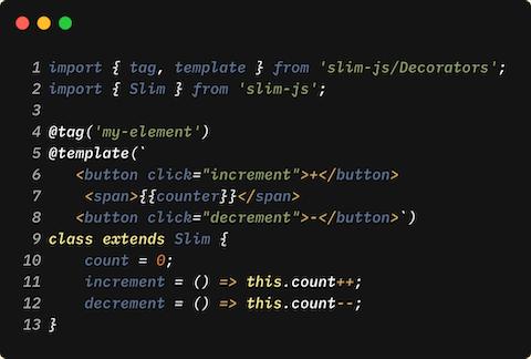 slim js | Fast & Robust Front-End Micro-framework based on modern