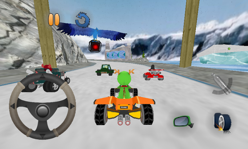 a gameplay screenshot of SuperTuxKart for reference