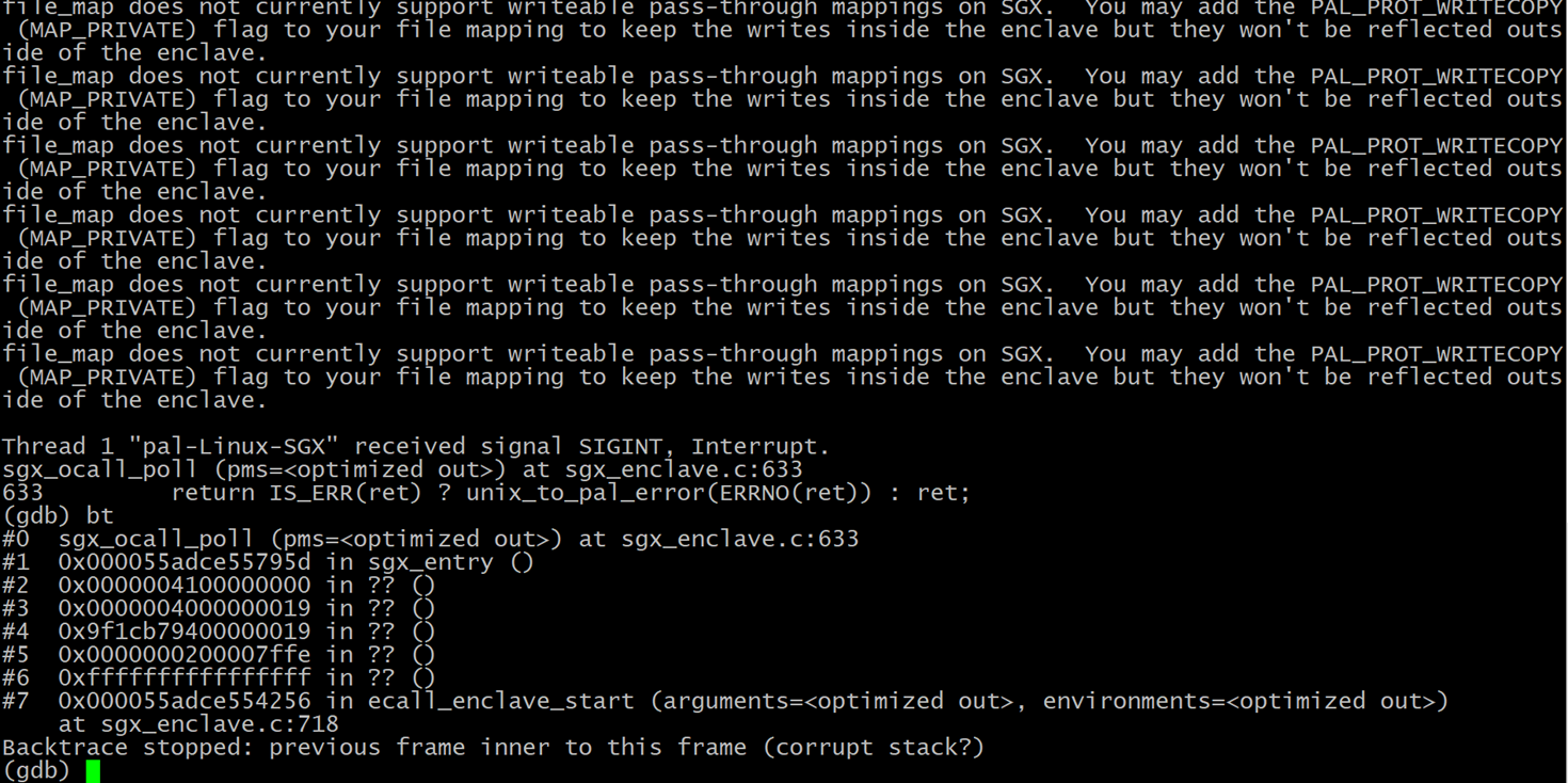 Writable in-memory mapping inside enclave for an external file ... on