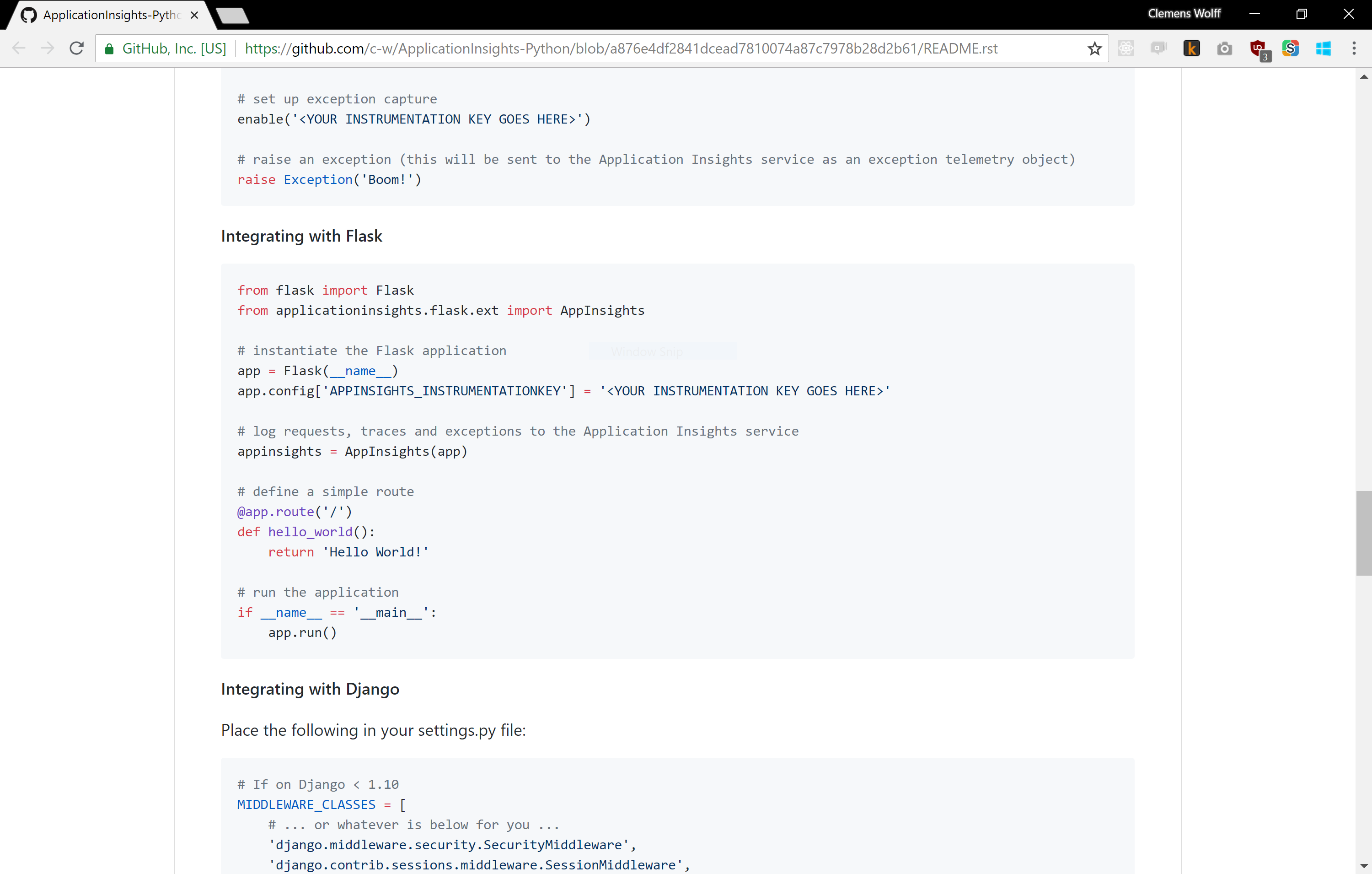 Screenshot of README after this pull request