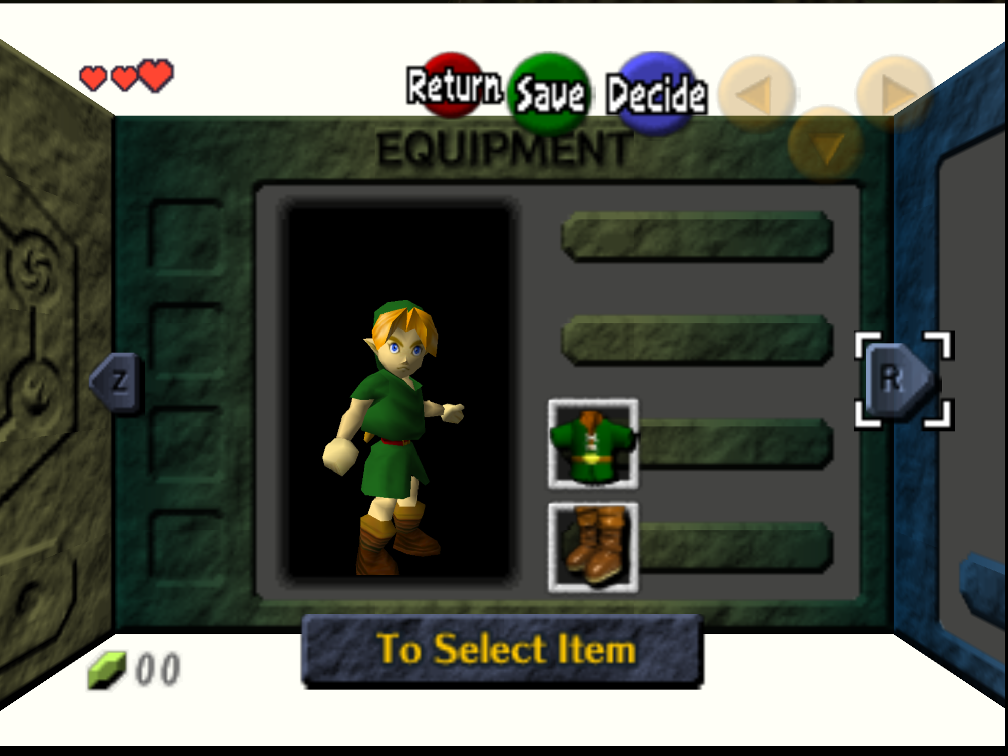 N64] Ocarina of Time Glitched Subscreen / Inventory · Issue #1372