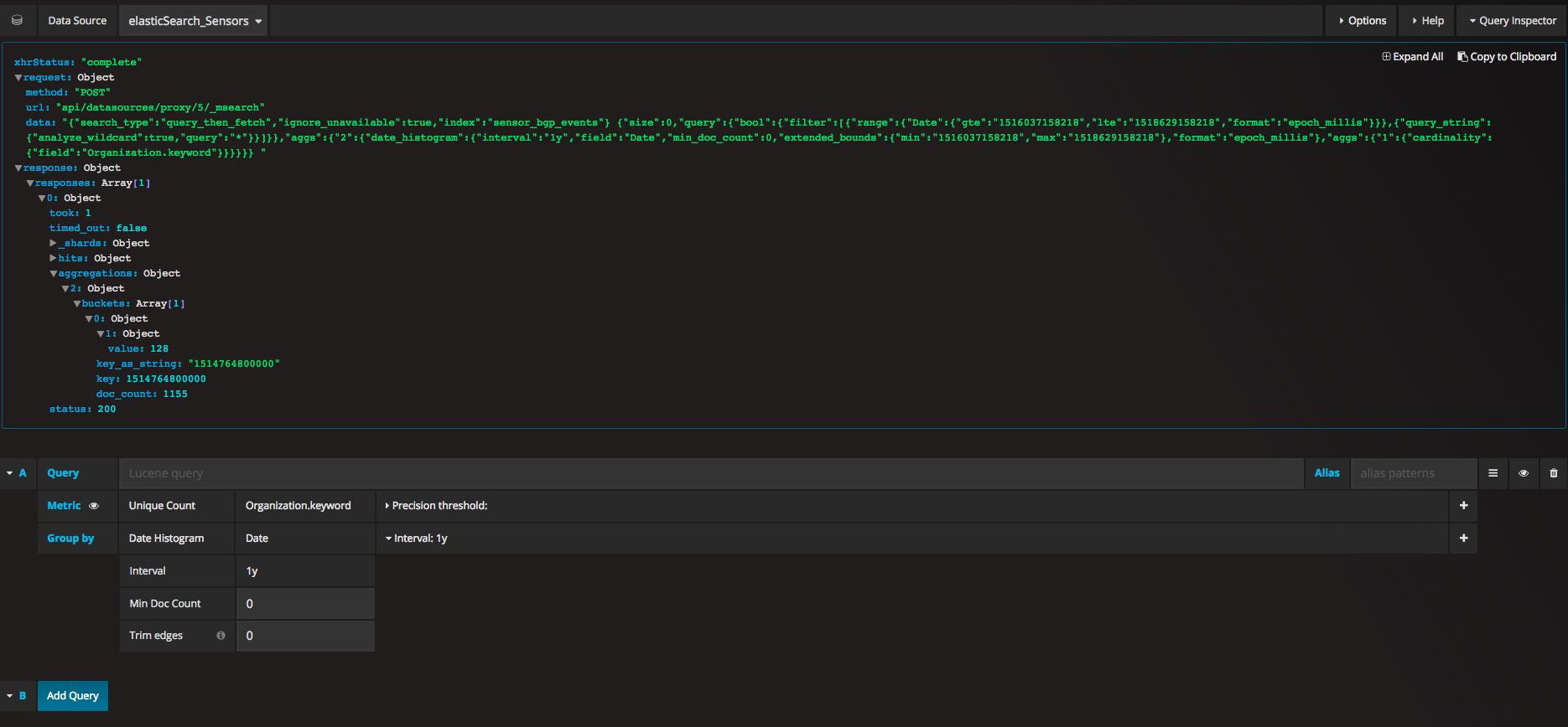 Bug] Elasticsearch Singlestat Panel Unique Count on string