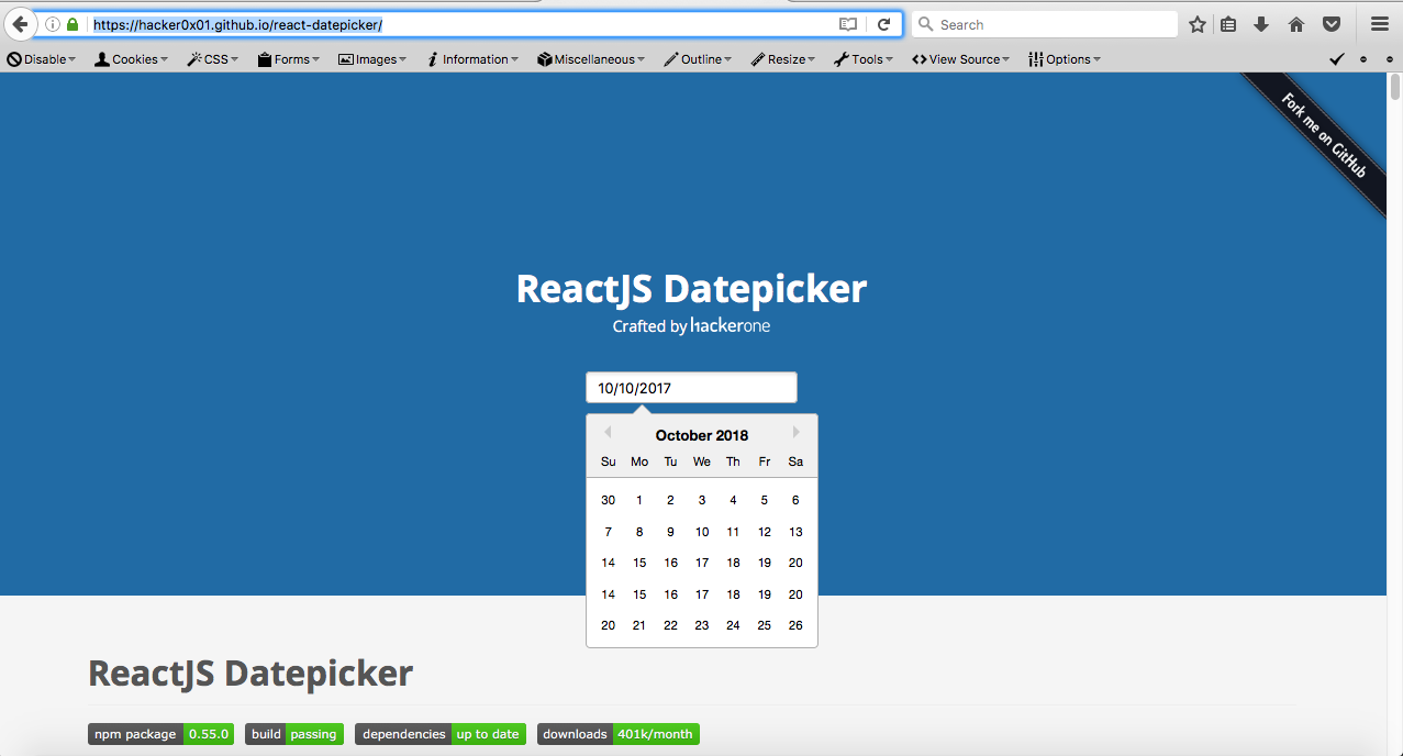 Problem with datepicker on firefox with october month · Issue #1065