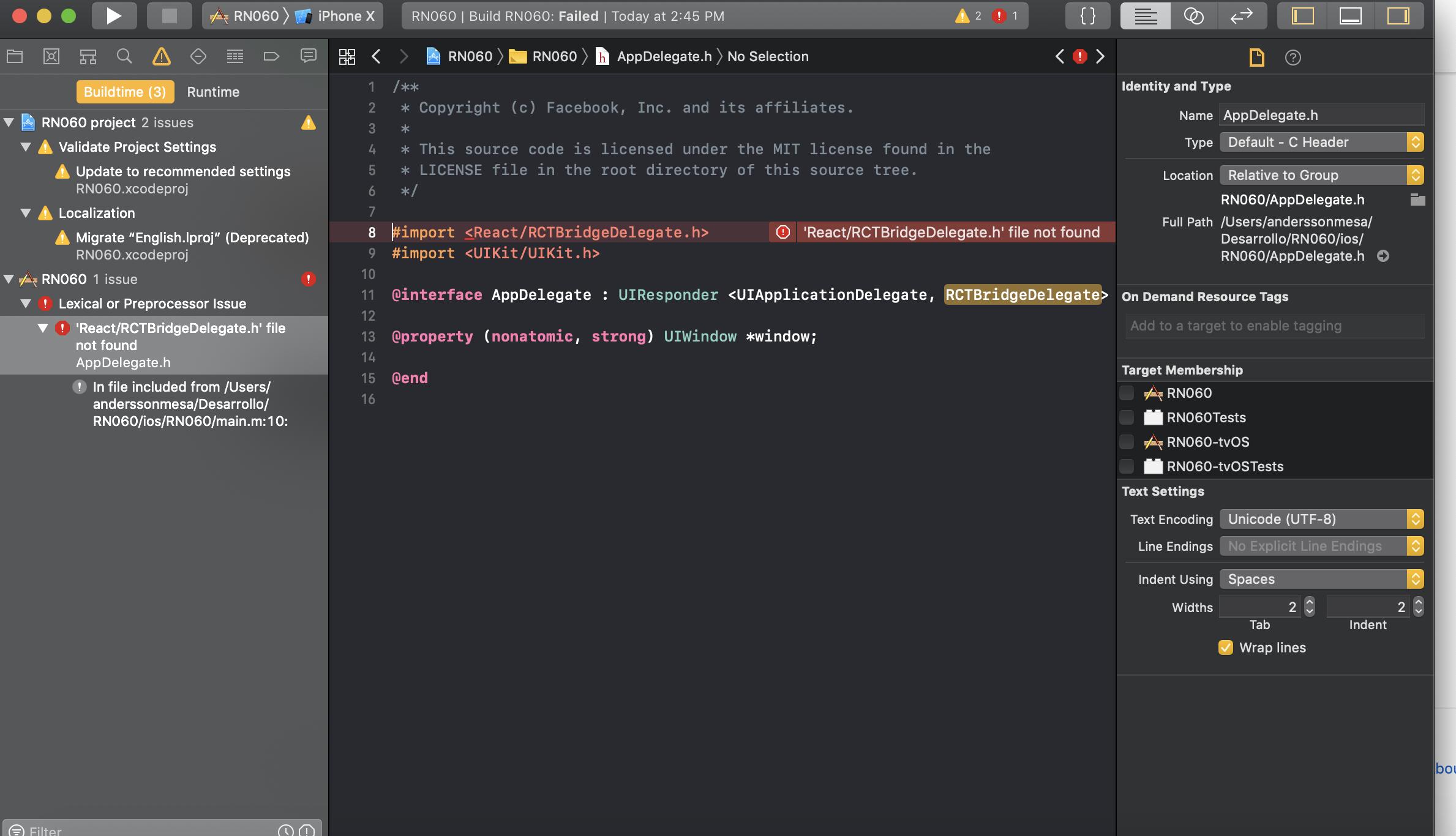 0 60 0 build failed with Error code 65 [IOS] · Issue #25500