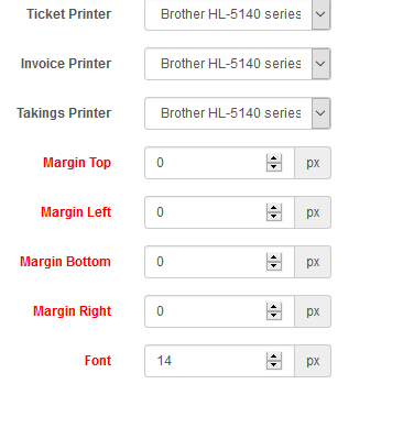 How to change the font size POS receipt? (very small on