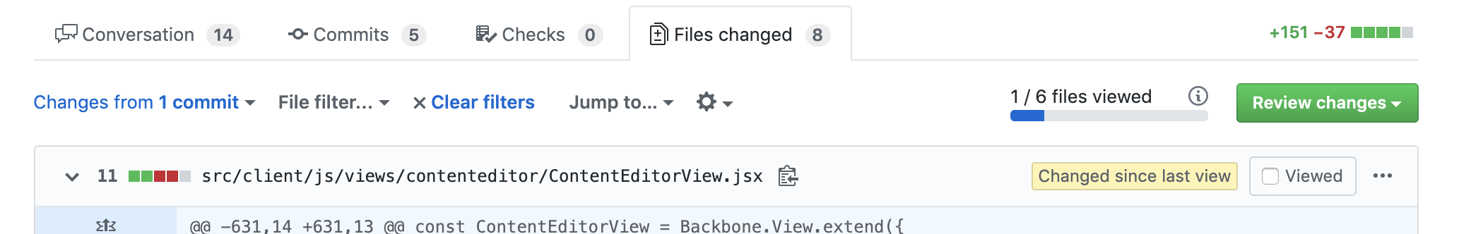 """Layout issues in """"Show changes since last view"""" view · Issue #2296 ·  sindresorhus/refined-github · GitHub"""