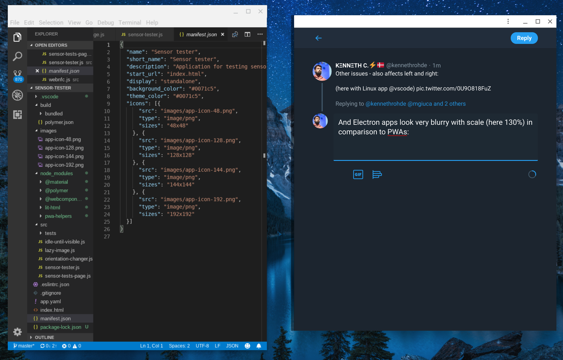 VSCode is blurry on Chrome OS with scaling · Issue #64070