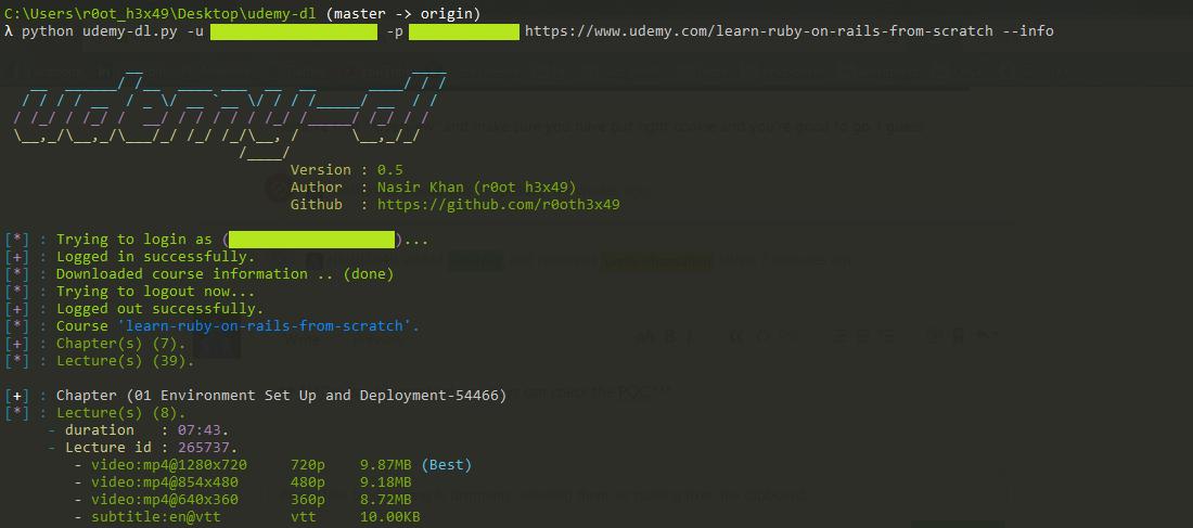 Udemy Login Error · Issue #303 · r0oth3x49/udemy-dl · GitHub