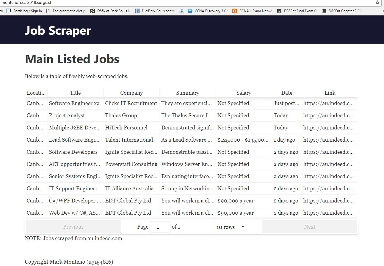 GitHub - monteno-m/job-scraper: Basic web scraper listing