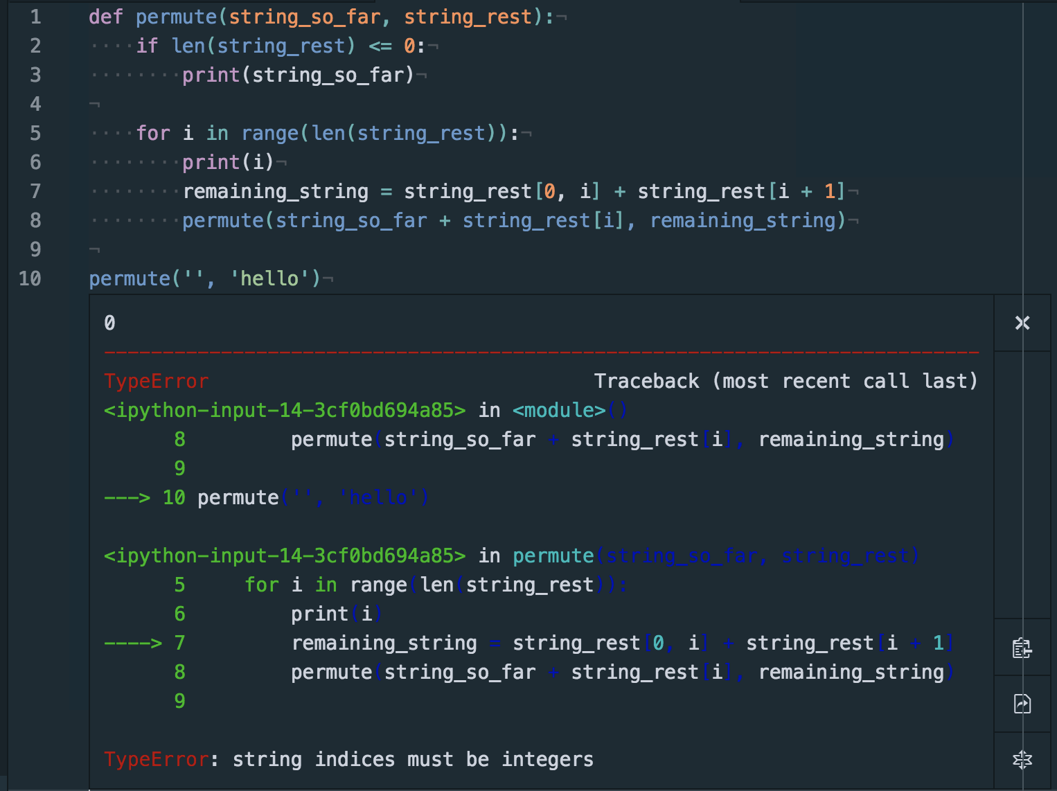 Insufficient contrast when running code with error · Issue