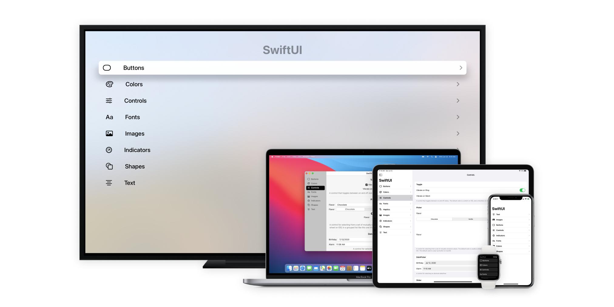 iOS, iPadOS, macOS, watchOS, tvOS