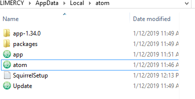 Atom not appearing on Start Menu (or anywhere) on Windows 10
