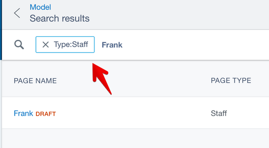 Show advanced search filter tags in search overview · Issue
