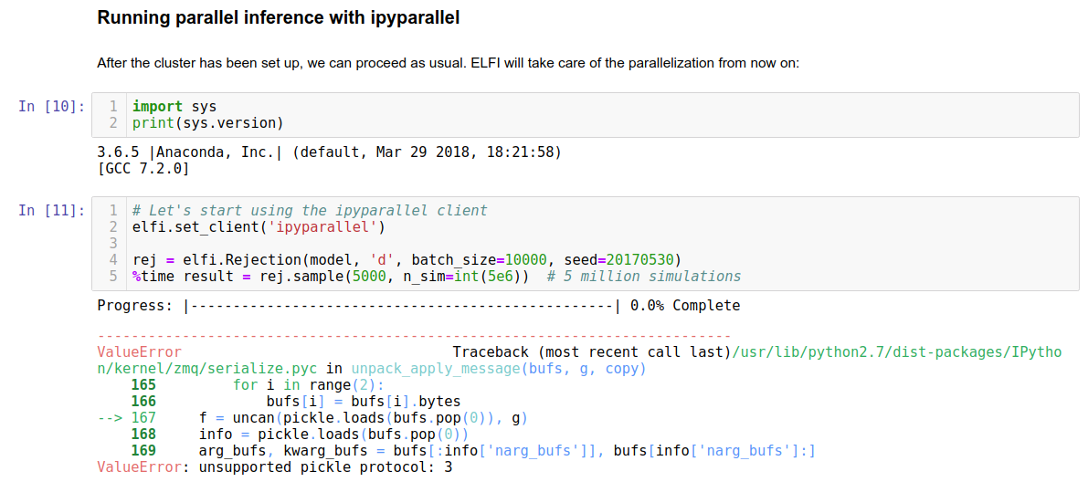 Running Jupyter Notebook with Python 3 6 5 raises error with Python